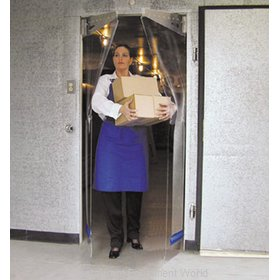 Curtron PP-G-080-3078-RP Cooler Freezer Door, Flexible