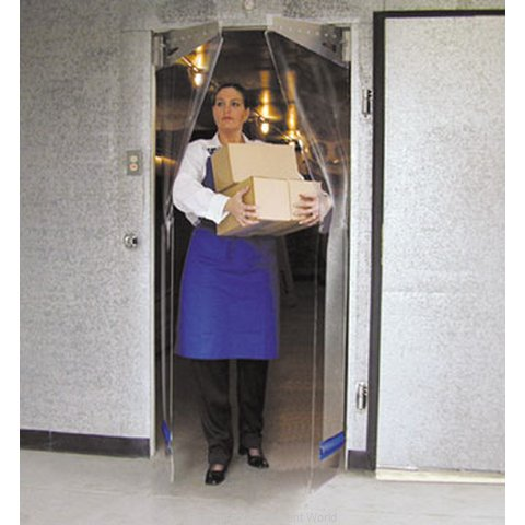 Curtron PP-G-080-4290-RP Cooler Freezer Door, Flexible