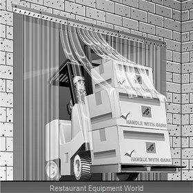Curtron SD-12-67-UM-LC-PRLT-96X96 Strip Curtain Unit
