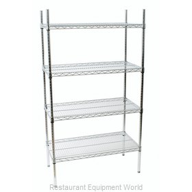 Crown Brands 124608 Shelving Unit, Wire