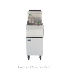 Dean D150G Fryer, Gas, Floor Model, Full Pot