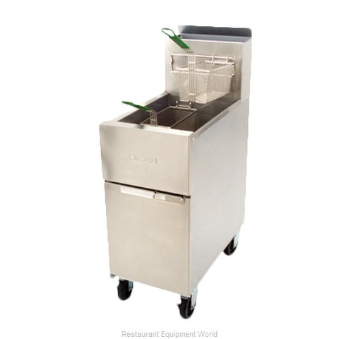Dean SR142G Fryer, Floor Model, Gas, Full Pot