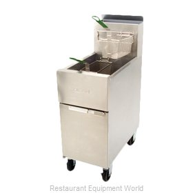 Dean SR142G Fryer, Gas, Floor Model, Full Pot