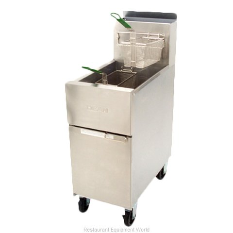 Dean SR152G Fryer, Gas, Floor Model, Full Pot (Magnified)
