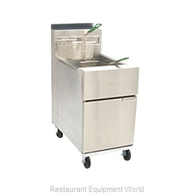 Dean SR162G Fryer, Gas, Floor Model, Full Pot