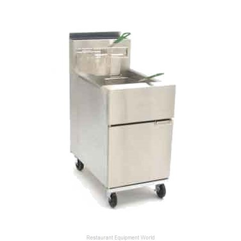 Dean SR62G-STCK Fryer Floor Model Gas Full Pot