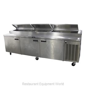 Delfield 186114PTBMP Refrigerated Counter, Pizza Prep Table