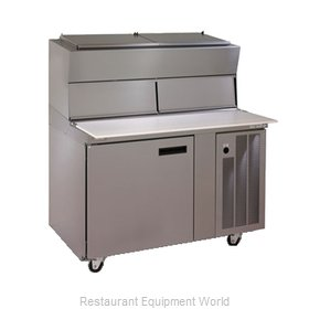 Delfield 18648PDL Pizza Prep Table Refrigerated