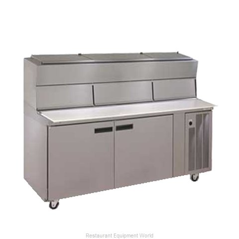 Delfield 18672PDL Pizza Prep Table Refrigerated