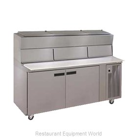 Delfield 18672PDLV Refrigerated Counter, Pizza Prep Table
