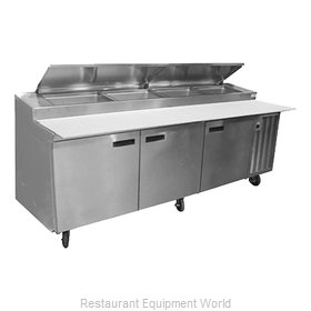 Delfield 18699PTLV Refrigerated Counter, Pizza Prep Table