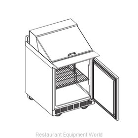 Delfield 4427N-12M Refrigerated Counter, Mega Top Sandwich / Salad Unit