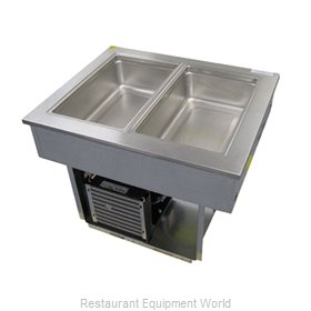 Delfield 8186-EF Liquitec Eutectic fluid refrigerated cold pan standar