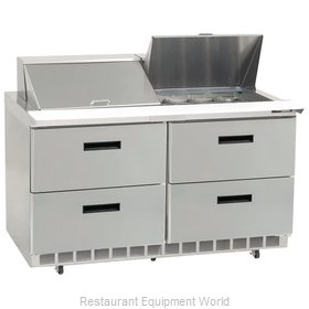 Delfield D4448N-12 Refrigerated Counter, Sandwich / Salad Top