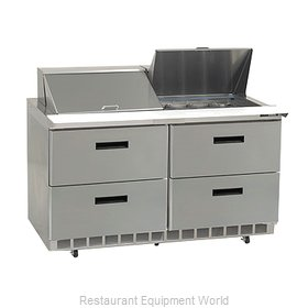 Delfield D4464N-24M Refrigerated Counter, Mega Top Sandwich / Salad Unit