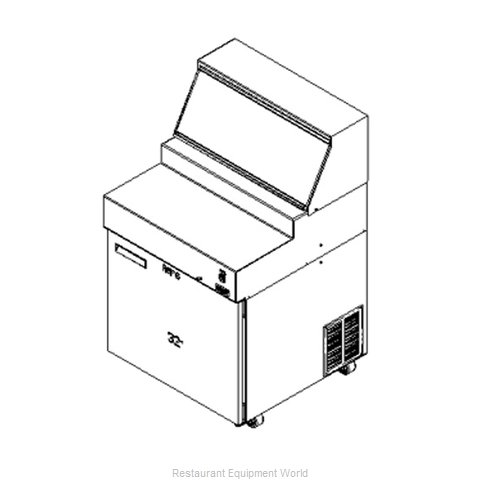 Delfield F18RC32-FSP Refrigerated Counter, Pizza Prep Table