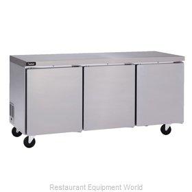 Delfield GUR72P-S Refrigerator, Undercounter, Reach-In
