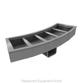 Delfield N8144-BRP Cold Food Well Unit, Drop-In, Refrigerated