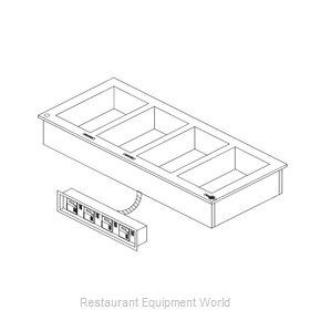 Delfield N8787-DESP Hot Food Well Unit, Drop-In, Electric