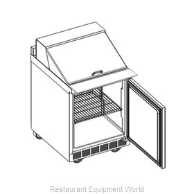 Delfield ST4427N-12M Refrigerated Counter, Mega Top Sandwich / Salad Unit