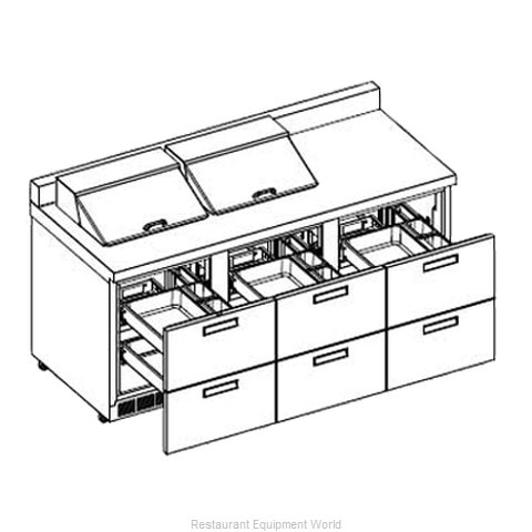 Delfield ST4472N-12 Refrigerated Counter, Sandwich / Salad Top