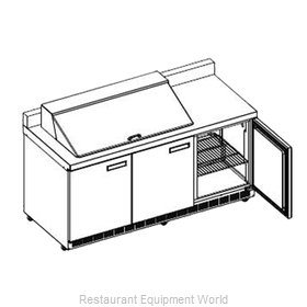 Delfield ST4472N-18M Refrigerated Counter, Mega Top Sandwich / Salad Unit