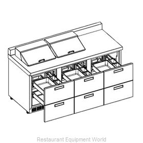 Delfield STD4472N-12 Refrigerated Counter, Sandwich / Salad Top