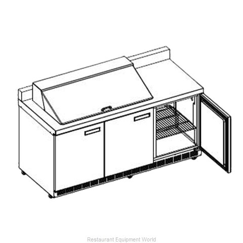Delfield STD4472N-24M Refrigerated Counter, Mega Top Sandwich / Salad Unit