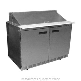 Delfield UC4448N-18M Refrigerated Counter, Mega Top Sandwich / Salad Unit