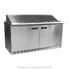 Delfield UC4464N-24M Refrigerated Counter, Mega Top Sandwich / Salad Unit