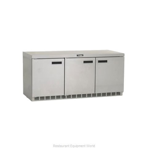 Delfield UC4472N Reach-in Undercounter Refrigerator 3 section