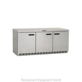 Delfield UCD4472N Reach-in Undercounter Refrigerator 3 section