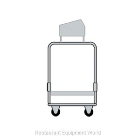 Delfield UTSP-2 Flatware & Tray Cart