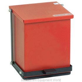 Detecto P-16R Waste Basket, Metal