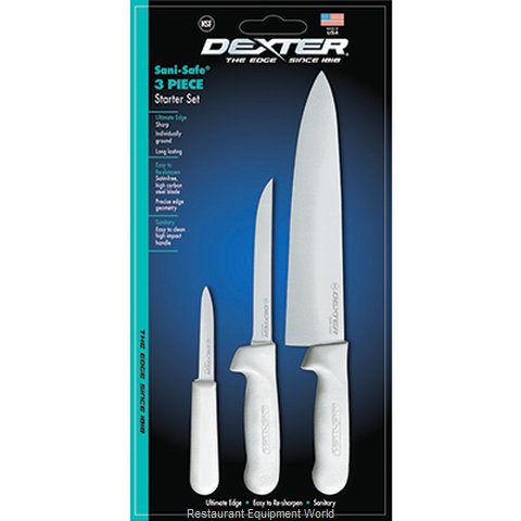 Dexter Russell 3PC-SS Knife Set (Magnified)