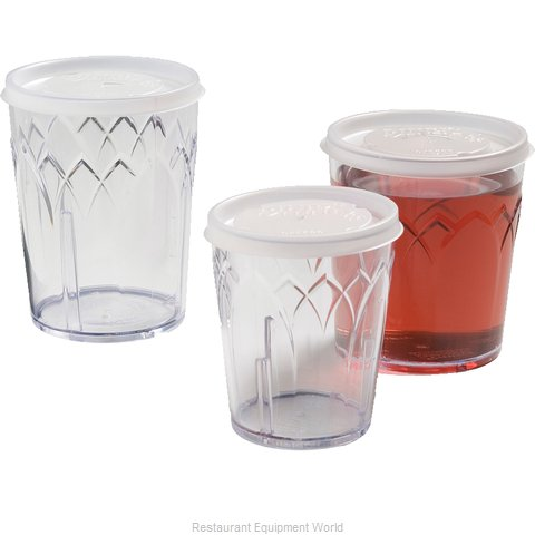 Dinex DX5600ST8714 Lid Disposable Cup (Magnified)