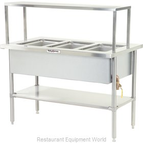 Dinex DXDVLHF3 Serving Counter Hot Food Steam Table Electric