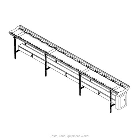 Dinex DXIESSW14 Conveyor Tray Make-Up (Magnified)