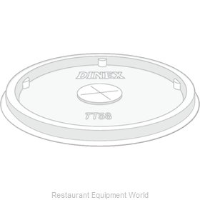 Dinex DXTT58 Disposable Cup Lids