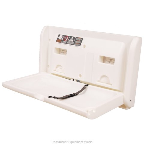 Diaper Depot 2304 Horizontal Changing Table - White (Magnified)