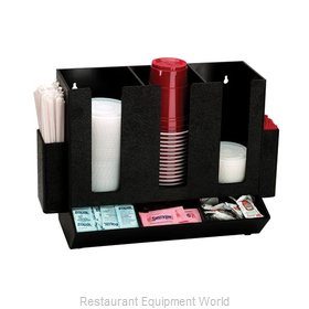 Dispense-Rite HLCO-3BT Condiment Caddy, Countertop Organizer