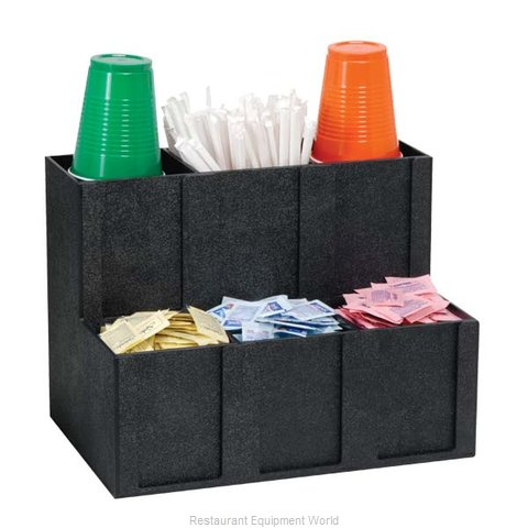 Dispense-Rite MCD-6BT Condiment Caddy, Countertop Organizer (Magnified)