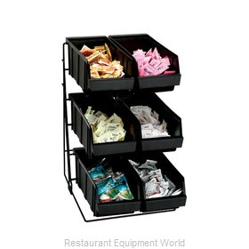 Dispense-Rite WR-COND-6 Condiment Organizer Bin Rack