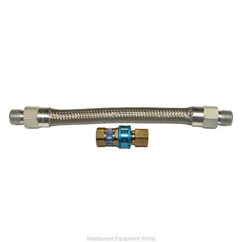 Dormont 1650BQ60 Gas Connector Hose Assembly (Magnified)