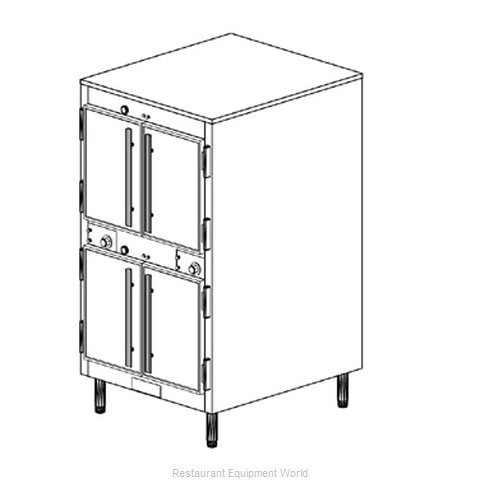 Duke 1262P Thermal Container, Free-Standing Pass-Thru (Magnified)