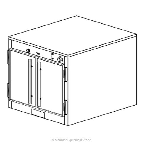 Duke 1571P Thermal Container, Free-Standing Pass-Thru (Magnified)