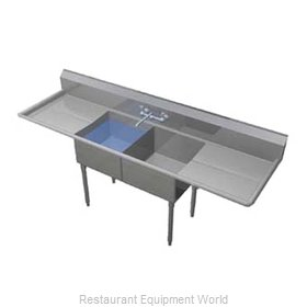 Duke 162-236 Sink 2 Two Compartment