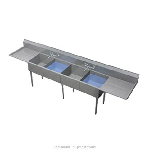 Duke 164-224 Sink, (4) Four Compartment