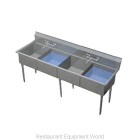 Duke 204-NDB Sink, (4) Four Compartment