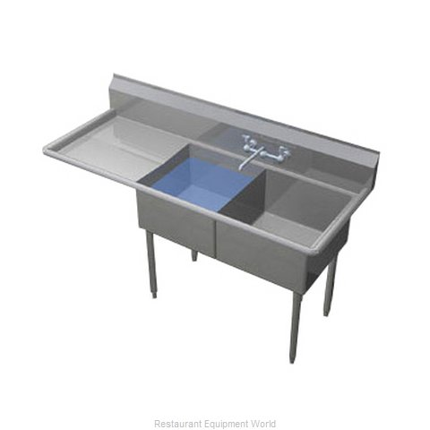 Duke 242S-124-L Sink, (2) Two Compartment